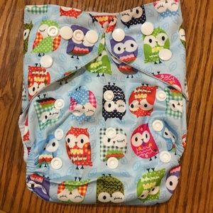 Other - 👶Brand new Alva Baby Cloth Diaper, blue owl print